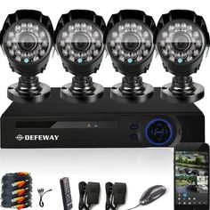 130.66$  Watch here - http://alia9r.worldwells.pw/go.php?t=32754202480 - DEFEWAY 1080N HDMI DVR 1200TVL 720P HD Outdoor Home Security Camera System 8 CH Video Surveillance DVR AHD CCTV Kit seguridad