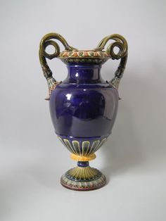 Rorstrand Majolica snake urn/vase