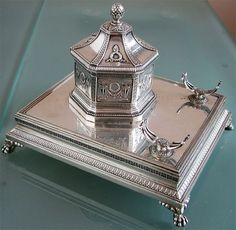 Faberge Silver Inkwell by Rappoport 1898-1908