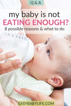 What is a baby won't eat enough?  Here are 8 possible reasons and how to deal with them! A baby not eating as much as before is quite a worry. #baby #sickbaby #babyformula #babycare 11 Month Old Baby, 4 Month Olds, Baby Care Tips, Baby Tips, Newborn Baby Care, Sick Baby, Breastfeeding And Pumping, Baby Massage, Baby Health