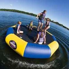 This water trampoline looks like a lot of fun.