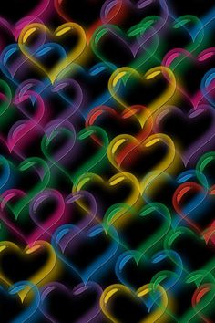 Burbujas en forma de corazon de colores