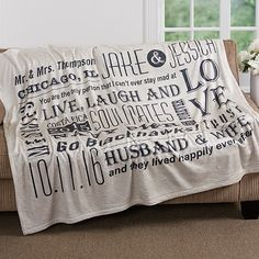 16882 - Our Life Together Personalized Fleece Blanket