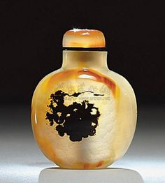 Chinese Shadow Agate Snuff Bottle