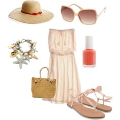 Beach Set, created by calmcool on Polyvore