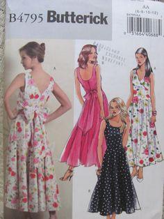 #Butterick 4795 Sleeveless Flared Skirt Dress by OnceUponAnHeirloom #group2020