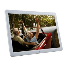 15'' TFT LCD Screen Desktop Digital Photo Frame with Remote Control White. With this digital photo frame, you can view your treasured photos without computer. Compatible with CF/MD/MS/SD/MMC/SM cards, you no longer have to develop or transfer picture files from your camera. It also supports MPEG and MP3 file, so you can view your favorite video clips or listen to your tunes while you slide show is in progress.