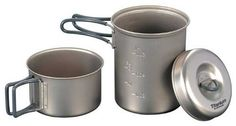 Pin it! :)  Follow us :))  zCamping.com is your Camping Product Gallery ;) CLICK IMAGE TWICE for Pricing and Info :) SEE A LARGER SELECTION of camping pots and pans at http://zcamping.com/category/camping-categories/camping-cooking-and-food/camping-pots-and-pans/ - hunting,  camping pots, camping pans, kitchen utensils, camping kitchen utensils, camping essentials, camping, camping gear -   EVERNEW Titanium Cooker set for single use ECA278 « zCamping.com