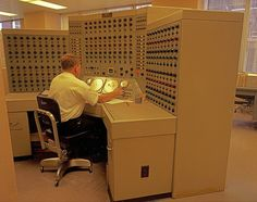 This was what a small computer looked like back in 1968. After all it fit into one room!