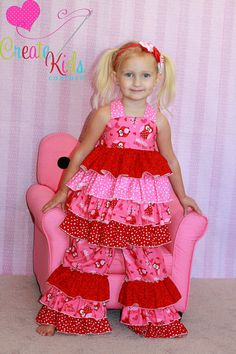 Kiki's Extra ruffled top and Kara's Triple ruffle jeans from Create Kids Couture!