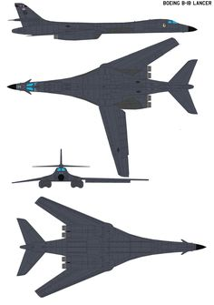 The B-1 Lancer is a strategic bomber used by the United States Air Force. First envisioned in the 1960s as a supersonic bomber with sufficient range and payload to replace the B-52 Stratofortress, ...