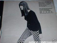Cathy McGowan Boutique catalogue 2 Sixties Fashion, Mod Fashion, High Fashion, Fashion Beauty, Vintage Fashion, Cathy Mcgowan, Mary Quant, Swinging London, Scooter Girl