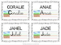 étiquettes modèle pour table CP Abc Centers, Jade, Learning To Write, Inference, Learn French, Bullet Journal, Teaching, Writing, Education