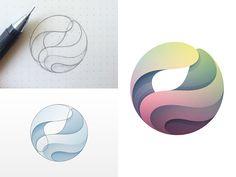 Logo Project by Yoga Perdana Popular Circle Logo Design, Circle Logos, Globus Logo, Kreis Logo Design, Cosmos Logo, Logo Branding, Branding Design, 3d Logo, Planet Logo