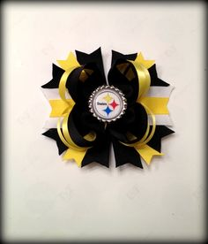 Steelers hair bow $7.00