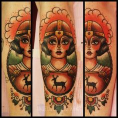 Joan of Arc Tattoo by Angelique Houtkamp