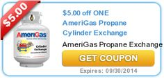 New very high-value $5/1 Amerigas Propane Cylinder Exchange or Purchase printable coupon available! - http://printgreatcoupons.com/2013/11/11/new-very-high-value-51-amerigas-propane-cylinder-exchange-or-purchase-printable-coupon-available/
