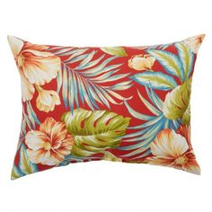 One of my favorite discoveries at ChristmasTreeShops.com: Red Tropical Indoor/Outdoor Oblong Throw Pillow