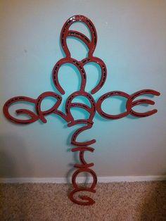 Amazing Grace horse shoe cross by Ryansweldworks on Etsy