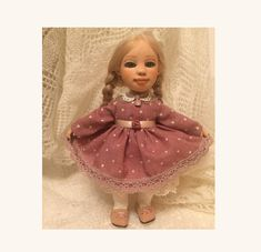 Art hinged handmade doll with clothes and shoes in a single copy Masha 20 cm Russian doll girl Svetlana Sokolova (Feechka)