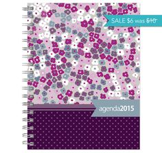 SALE 2015 planner calendar year POCKET size purple by posypaper