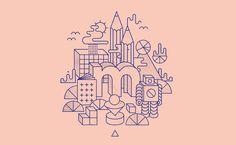 Line illustration | Inspiratie | Kleurencombinatie