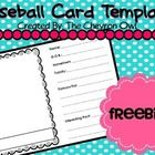 Use this baseball card template in your social studies or reading class and have students create a baseball card for a character or a person they h...