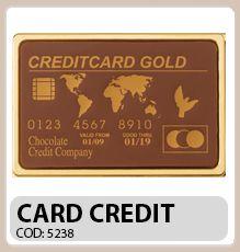 Card de credit din ciocolata