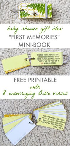 Baby Shower Gift Idea: First Memories Mini-Book!  FREE Printable at thinkingcloset.com