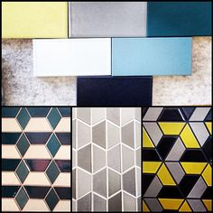 photo by seldindesignstudios Heath Ceramics, Fireplace Surrounds, May 7th, Tiles, Colours, Flooring, Lettering, Color Palettes, Spy