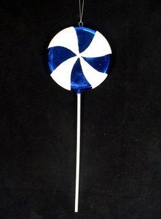 "Large Candy Fantasy Blueberry Swirl Lollipop Christmas Ornament Decoration 22"""