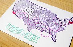 Friend Gift Custom Artwork Going Away by StephMicheleArtworks #friendshipgift