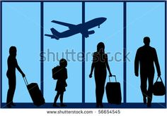 The family at the airport-an illustration