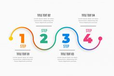 Four steps infographic timeline template Free Vector Circle Infographic, Infographic Powerpoint, Timeline Infographic, Free Infographic, Infographic Templates, Kids Vector, Vector Free, Certificate Design Template, Web Design