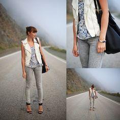 H Vest, Zara Jeans