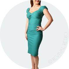 sophisticated vintage dress aqua
