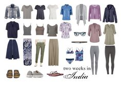 Capsule wardrobe for two week trip to India
