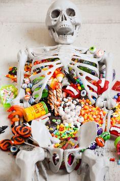 Halloween Skeleton Candy Charcuterie Board   Kara's Party Ideas