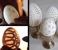 Amazing Easter Eggs (These are holes) Since receiving one of these eggs a few years ago, I've been wanting to learn how to do this!!