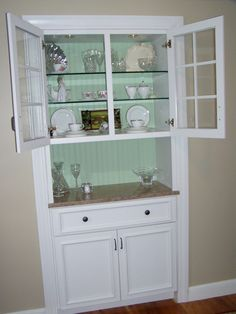 Plater Paint Built In China Cabinet Painted With Seaside And Ivory Lace By My Dils Katie Tammy