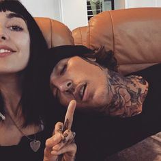 Hannah Snowdon and Oliver Sykes