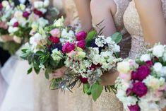 Summer wedding bouquets, sparkle, organic #boldlychicevents