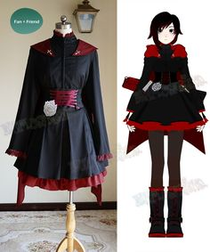 Check out these Best Anime Cosplay costume at this Expo. Great pictures of their costumes. Rwby Cosplay, Anime Cosplay Costumes, Cosplay Outfits, Anime Outfits, Cosplay Characters, Disney Cosplay, Cosplay Makeup, Rose Costume, Costume Dress