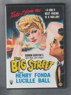 The Big Street (DVD, 2007) Lucille Ball ( I LOVE LUCY ) & the great Henry Fonda