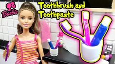 DIY Miniature Doll Toothbrush And Toothpaste - Barbie Doll Crafts - Maki...