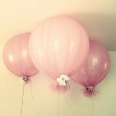 Tulle | Balloons | DIY | Decor Ideas | Decorations | Do it Yourself www.foreverbride.com