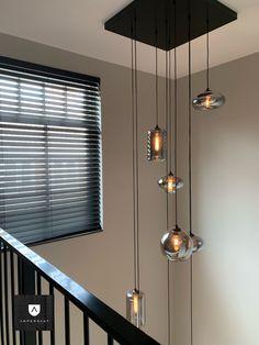 Staircase Lighting Ideas, Stairway Lighting, Entrance Lighting, Bedroom Lighting, Home Lighting, Entryway Light Fixtures, False Ceiling Design, Interior Decorating, House Design