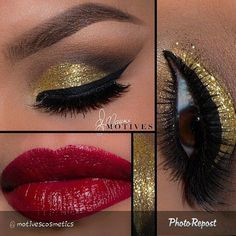 """By """"We are IN LOVE with this beautiful look by using Motives! It's perfect for the holidays! Tag a friend! Makeup Designs, Hair Beauty, Lipstick, Eyes, Beautiful, Color, Makeup Products, March, Holidays"""