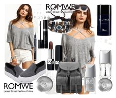 """""""Romwe"""" by amraa-145 ❤ liked on Polyvore featuring Christian Dior"""