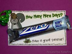 Squirrelly kids mean squirrelly teachers! Last day  freebie for your teacher friends! | Around the Kampfire